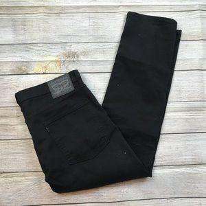 Men's LEVIs 513 Slim Straight Fit Black Jeans 36